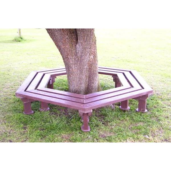 Square hexagonal bench