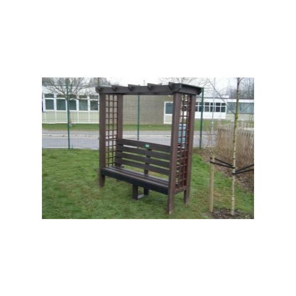 Square arbour seat
