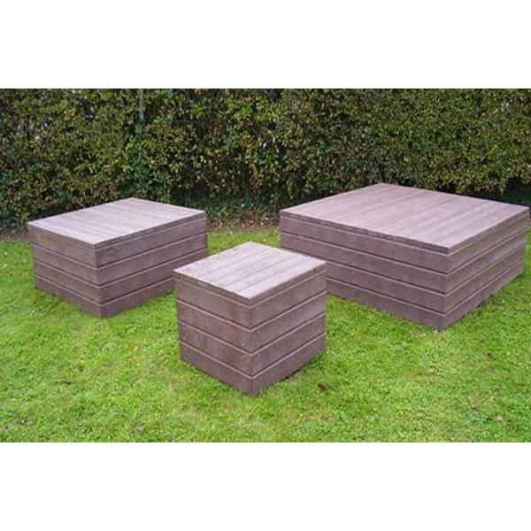Square block bench