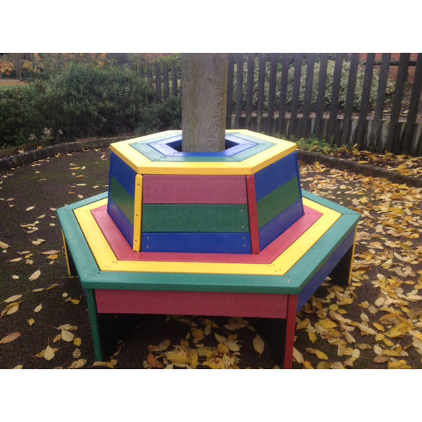 Square 2013 11 19 multi colour tree bench