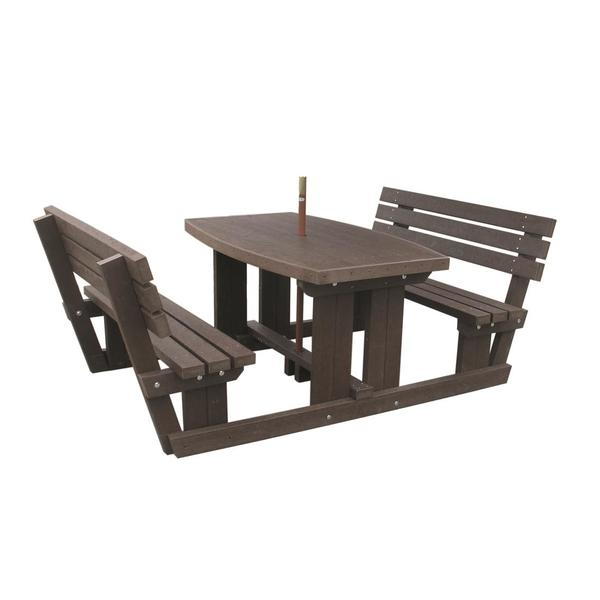 Square hounsfield walkthrough picnic table