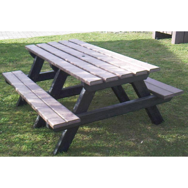 Square standard picnic table