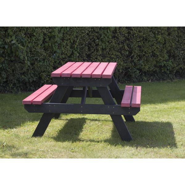 Square coloured garden picnic table