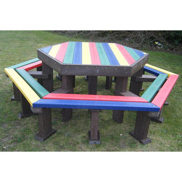 Square sunshine junior hexagonal dorey table and seats