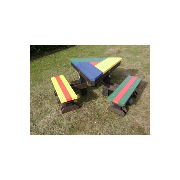 Square sunshine junior triangular dorey table and seats