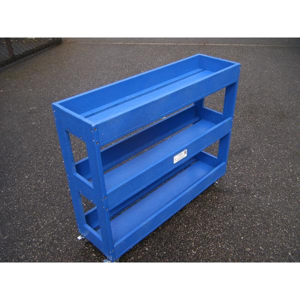 Square set of 4 trolleys with wheels