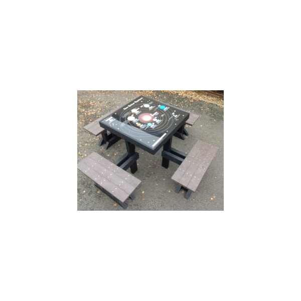 Square dorey table and seats2
