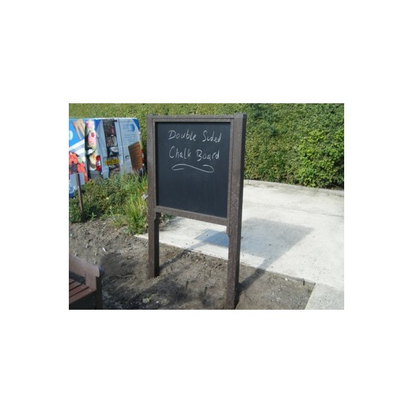 Square double sided chalkboard