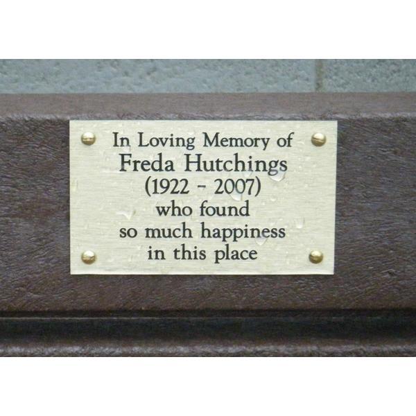Square bench plaque