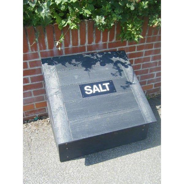 Square salt grit bin