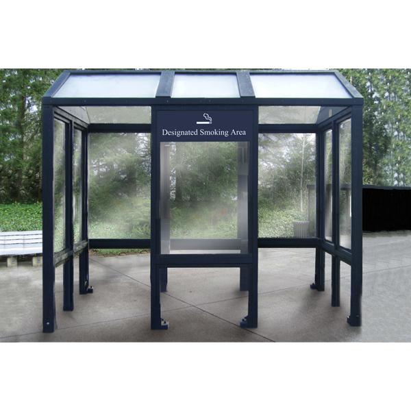 Square smoking shelter