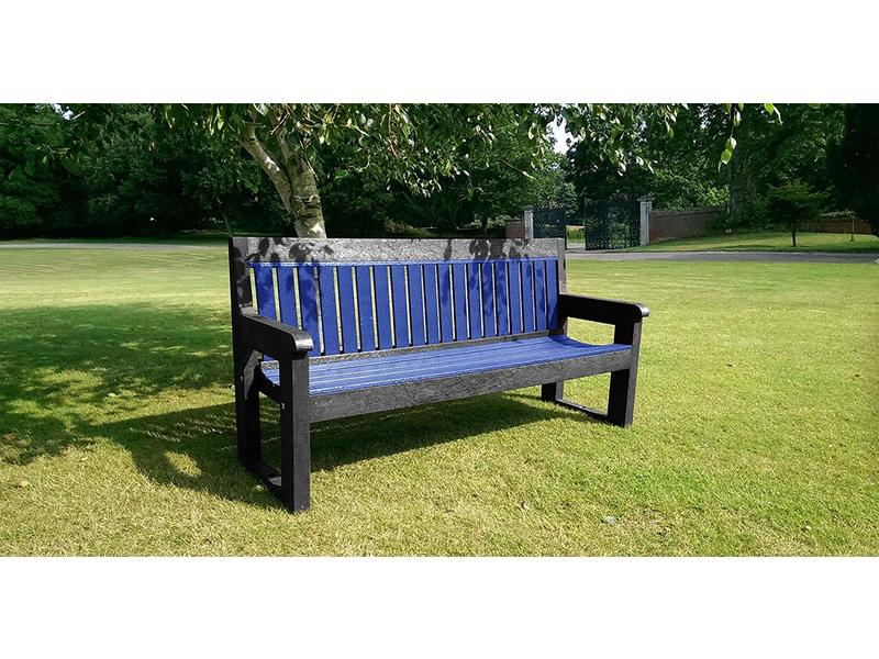 Classic Bench (1500mm, Brown and Blue)