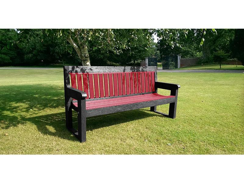 Classic Bench (1500mm, Black and Red)