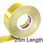 25m Yellow Reflektif Reflective Curtain Grade Tape (ECE 104) - Solid Style