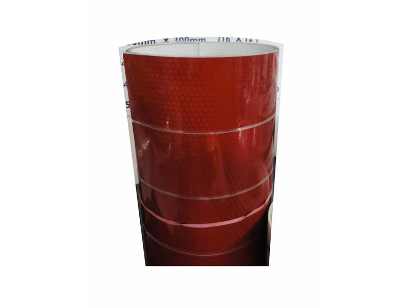 Retro Reflective High Intensity Film in Red 3.66m x 50mm