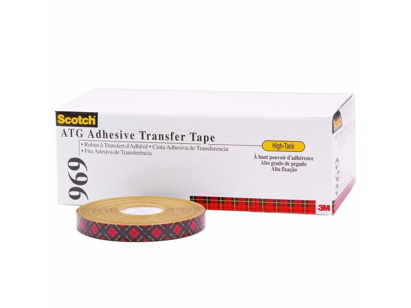 """3/4"""" x 18 yds. (6 Pack) 3M - 969 Adhesive Transfer Tape, 1 PER CASE"""