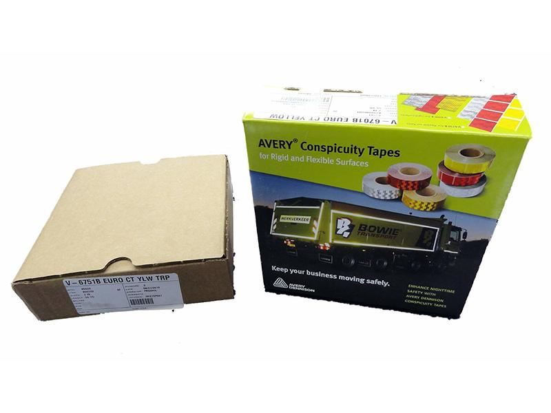Avery Dennison Conspicuity Tape, For Rigid Surfaces, V-6701B Euro CT Yellow
