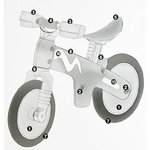 Ride on Bicycle B-BIP Cityblue Children's Balance Bike Learn to Ride TÜV